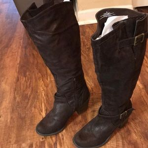 Mossimo Brown Heeled Boots